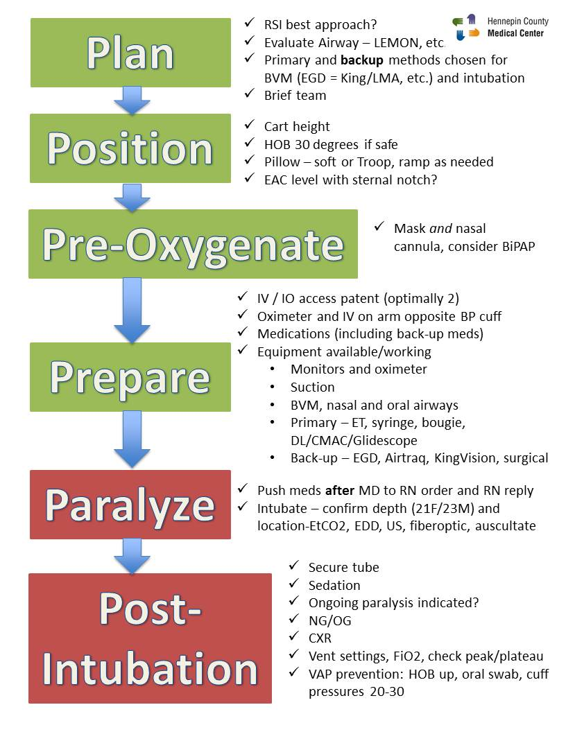 Rapid Sequence Intubation Checklist Resus Review